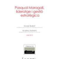 Pasqual Maragall, lideratge i gestió estratègica